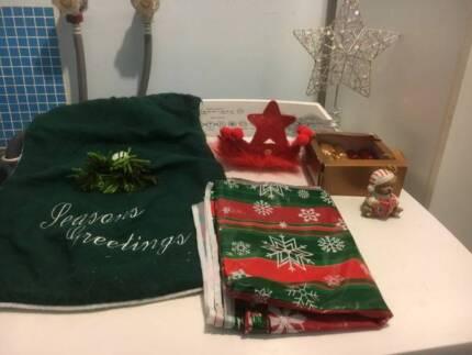 bag of mixed christmas items