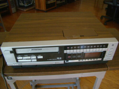 Sanyo VCR 4500 Betacord Betamax Video Cassette Recorder Tested Working Condition