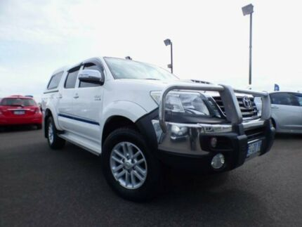 2013 Toyota Hilux KUN26R MY12 SR5 (4x4) White 5 Speed Manual Dual Cab Pick-up