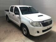 2012 Toyota Hilux KUN16R MY12 SR Glacier White 5 Speed Manual Dual Cab Pick-up Bohle Townsville City Preview