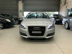 2013 Audi A3 8P MY13 Attraction Sportback S Tronic Silver 7 Speed Sports Automatic Dual Clutch Revesby Bankstown Area Preview