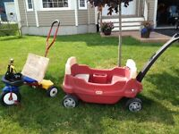 Little Tikes 2 seater Wagon and push along Trike