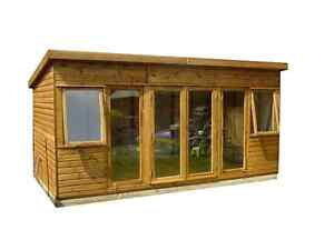 12x8 T&G  SUMMER HOUSE (MODERN) (WOODEN GARDEN SHED) (LOG CABIN)