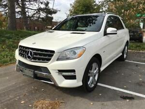2012 MERCEDES BENZ ML350, LOW KM, WHITE