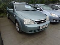 2007 Chevrolet Lacetti Estate Car 1,6 Petrol MOT'd July 19 £795