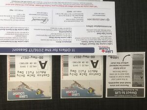 Lake Louise Lift Tickets (2) for sale
