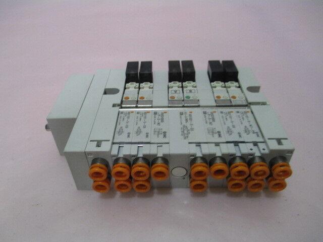 SMC VV5Q13-ULB000119 Pneumatic Manifold, 5 VQ1331-5-C0, 2 VVQ1000-P-3-N7, 415581
