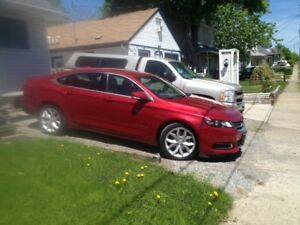 Chevy Impala LT 2014 (60,000 kms). Red 4 door, 2.5, 4 cylinder