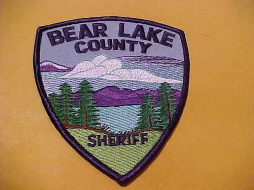 BEAR LAKE COUNTY IDAHO POLICE PATCH SHOULDER SIZE UNUSED