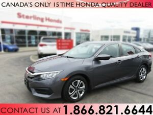2016 Honda Civic Sedan LX | 1 OWNER | LOW KM'S