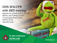 St. John Ambulance OHS First Aid/CPR with AED Training