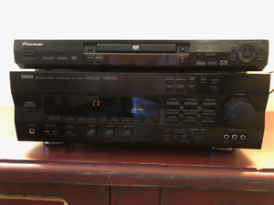 5.1 Yamaha Surround Sound Amplifier and Pioneer DVD player