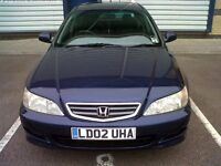 HONDA ACCORD 2.O LITER MANUAL COLOUR BLUE 2002 FOR AN URGENT SALE. £575.00