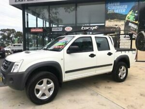 2012 Isuzu D-MAX TF MY12 SX (4x4) White 5 Speed Automatic Crew Cab Chassis Tuncurry Great Lakes Area Preview