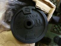 6 x 5kg 1inch cast iron weights NEW Boxed
