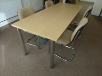 Large Table & Chairs - Meeting/Office/Home/Work