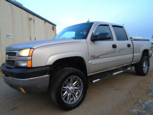 LIFTED__2005 Chevrolet Silverado 2500HD LT-DVD-TV-LEATHER-DIESEL