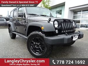 2016 Jeep Wrangler Unlimited Sport ACCIDENT FREE w/ 4X4, U-CO...