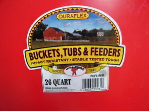 DURAFLEX LARGE FEED TUBS FOR FARM ANIMALS & LARGE DOGS - New