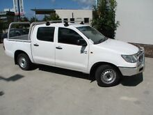 2011 Toyota Hilux GGN15R MY12 SR Double Cab White 5 Speed Automatic Utility Robina Gold Coast South Preview