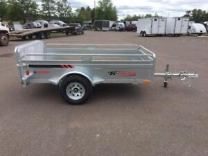 "NEW 2018 K-TRAIL 56"" x 8' GALVANIZED UTILITY TRAILERS"