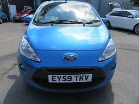 Ford KA 1.2 ZETEC 3d 69 BHP finance from as little £25 week (blue) 2009