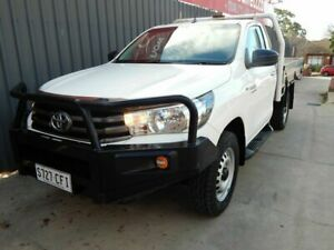 2016 Toyota Hilux GUN126R SR White 6 Speed Manual Cab Chassis Blair Athol Port Adelaide Area Preview
