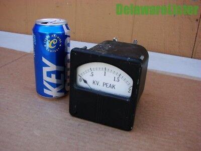 Vintage Kv Peak Meter Type Kx Style 1728460 20 Micro Amp Dc Westinghouse Co.