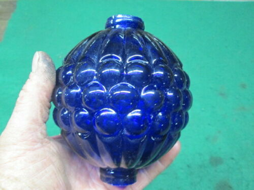 Newly Made Cobalt Blue Glass Lightning Rod Ball Nice Design Old Farm Barn