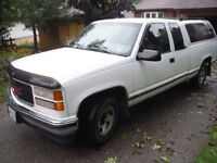 1996 GMC Sierra 2500 White Pickup Truck - Certified & E-Tested