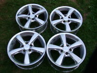 "A COMPLETE SET OF 4- 15"" EAGLE ALLOY RIMS 5x100MM"