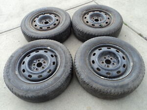 4 All Season Tires with steel Rims for 2000-2010 PT Cruiser