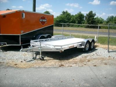 19 7816 Aluma Car Hauler Equipment Utility Trailer New All Aluminum Trailer 7x16