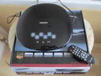 BOXED SAMSUNG DVD PLAYER-H1080 WITH REMOTE-FULL HD UP SCALING-HDMI ETC-COLLECT OSSETT WAKEFIELD.