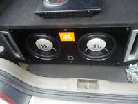 JBL subwoofers with Sony Xplod amplifier