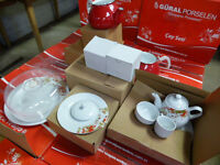 Gural Porcelain Turkish Traditional Breakfast Set / Tea set 22 Piece