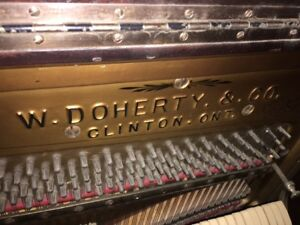 ANTIQUE W.DOHERTY AND CO UPRIGHT PIANO