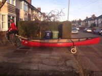 Canoe (Canadian 3 man) - includes 3 paddles, 3 life jackets and trolley wheels. £600