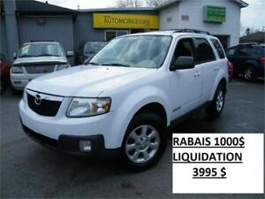 2008 MAZDA TRIBUTE GT . 4X4 . CUIR . TOIT OUVRANT