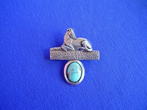 Stylized Greyhound Whippet on Turquoise Pin #13G dog jewelry by Cindy A. Conter