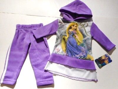 Disney Rapunzel Girls clothes Toddler outfits Pants Shirts Hoodie Purple 2T ()