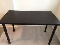 ikea black table 120x60 in as new condition