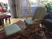 Feeding / Rocking Chair with rocking footstool