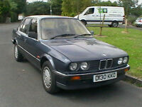 1986 D REG E30 BMW 320I AUTOMATIC 4 DOOR SALOON METALLIC BLUE 30 YR OLD CLASSIC