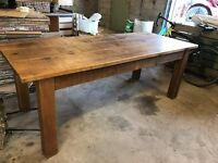 Kitchen table 7ft long x 2ft 10in wide and 6 chairs