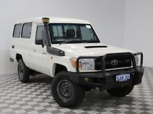 2010 Toyota Landcruiser VDJ78R 09 Upgrade Workmate (4x4) 11 Seat White 5 Speed Manual TroopCarrier Atwell Cockburn Area Preview