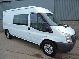 Ford Transit 350 TDCi factory crew van, LWB medium roof,2012 12reg