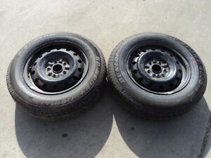 2 Dunlop Tires with steel rims for 1992-2006 Toyota Camry