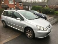 SILVER PEUGEOT 307 ESTATE - 03 PLATE - NO MOT