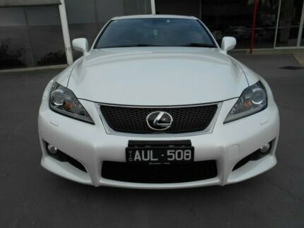 2012 Lexus IS USE20R MY12 White 8 Speed Sports Automatic Sedan Bentleigh East Glen Eira Area Preview